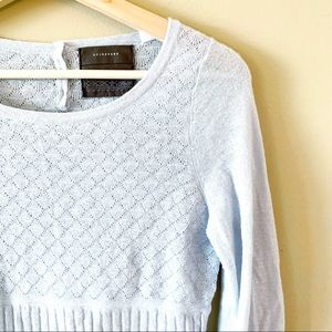 Anthropologie | Crew Neck Sweater Gray Size Small